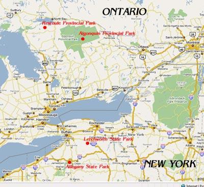 Image result for algonquin provincial park location